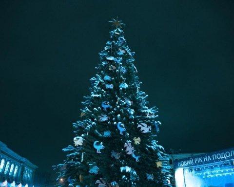 В Киеве открыли главную новогоднюю елку страны: впечатляющее видео