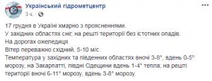 Сніг лише в одному регіоні: синоптики дали свіжий прогноз погоди для України