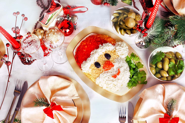 тебе новогодние кулинарные пожелания про еду продуктов питания