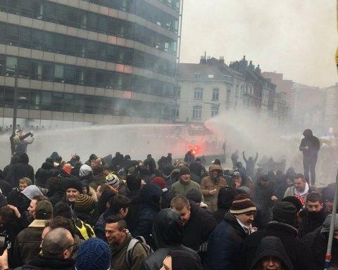 У Брюсселі тисячі людей вийшли на вулиці, почалися зіткнення: що відбувається