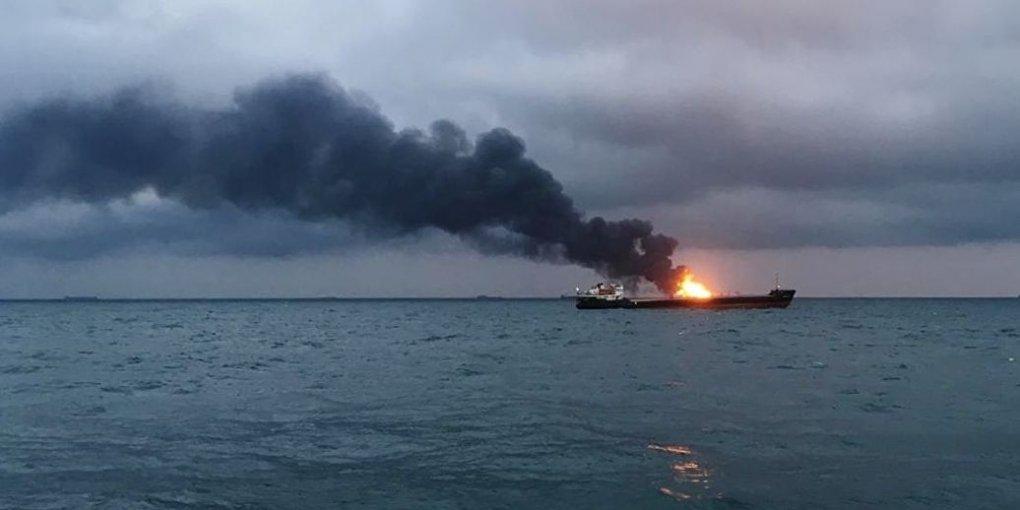 НП біля Керчі: названо ймовірну причину пожежі на кораблях