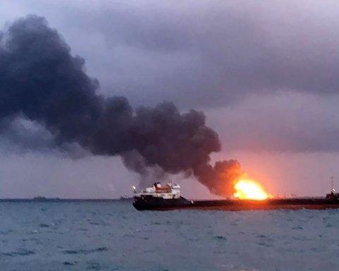 Катастрофа возле Керчи: пожар не могут потушить, появились тревожные новости