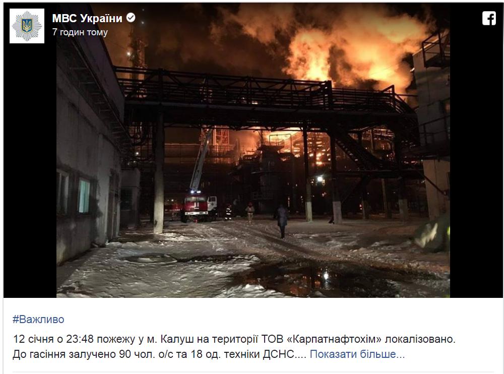 Пожар на Прикарпатье локализовали: подробности