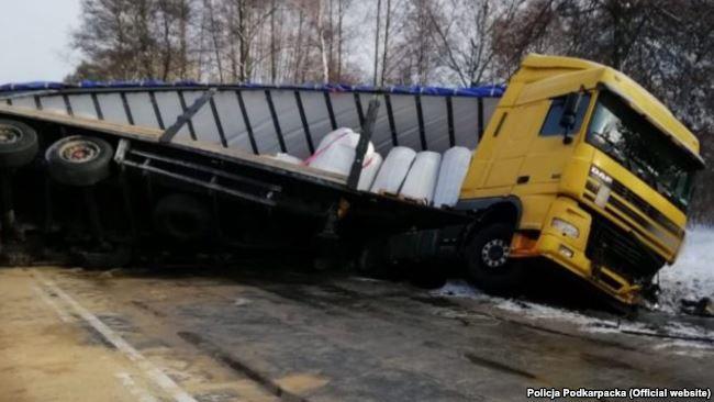 Автобус с туристами в европе попал в аварию