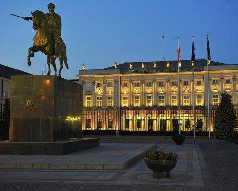 У президентському палаці в Польщі сталася НП, є  постраждалий: подробиці
