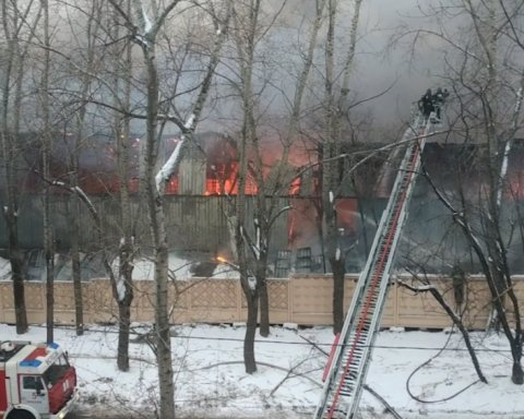 У Москві спалахнула масштабна пожежа: опубліковано відео