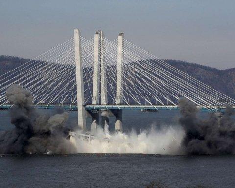 В Нью-Йорке прогремел взрыв, разрушен мост через Гудзон: кадры с места событий