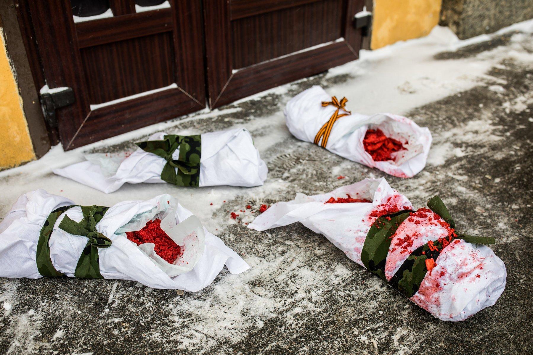У Росії влаштували моторошну антивоєнну акцію: опубліковано фото