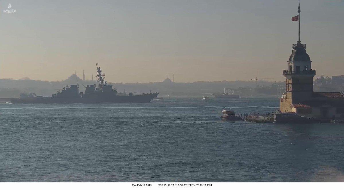 В Одессу идет американский эсминец с «Томагавками»: появились фото и видео