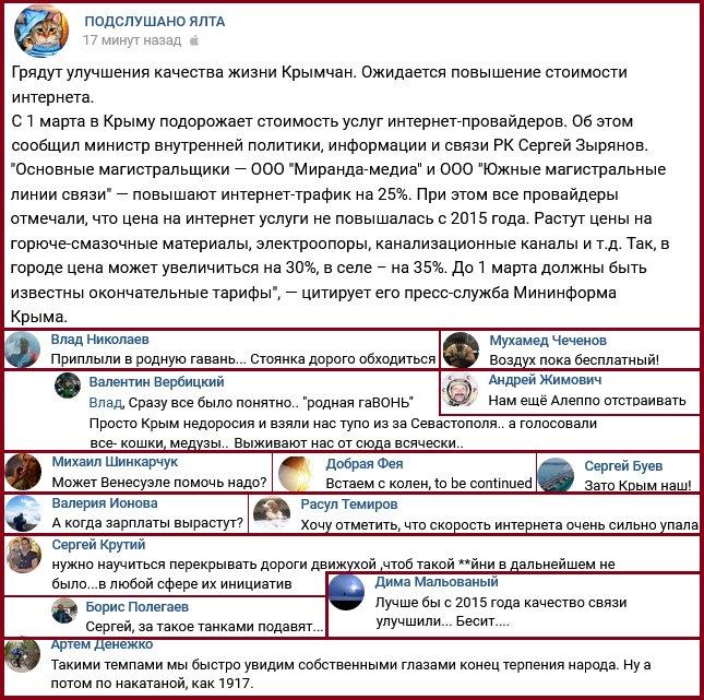 Воздух пока бесплатный: крымчане массово жалуются на жизнь в оккупации