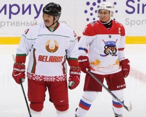 Путин сыграл в хоккей с Лукашенко: в сети увидели намек