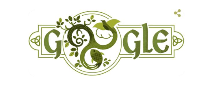 День святого Патрика: Google привітав користувачів цікавим дудлом