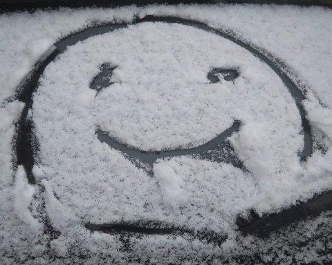"""Під Києвом несподівано випав """"сніг"""": все потрапило на фото"""