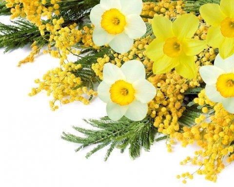 Красиві привітання з 8 березня і яскраві листівки