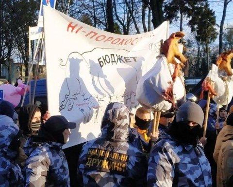 На мітингу Порошенка у Вінниці сталися сутички, є затримані: опубліковано фото і відео