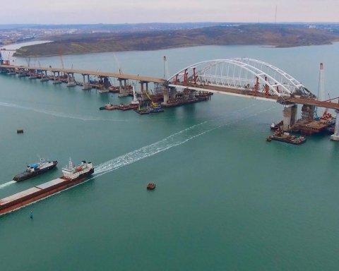 »Завис» в воздухе: появились свежие фото путинского моста в Крым