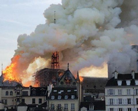 Пожежа у Соборі Паризької Богоматері: названо ймовірну причину катастрофи