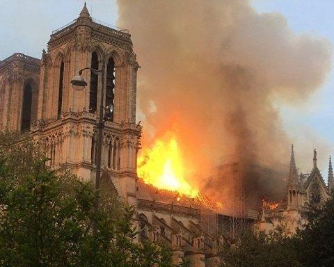 Пожежа у Соборі Паризької Богоматері: відео з місця катастрофи та подробиці