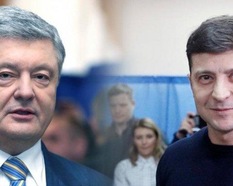 """Порошенко проти Зеленського: хроніка і відео """"дебатів"""" на НСК """"Олімпійський"""""""