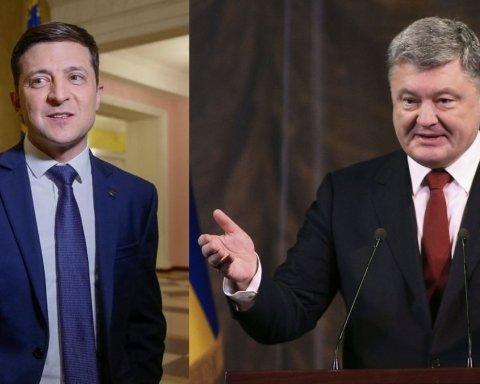 Зеленский против Порошенко: хроника и полное видео дебатов на НСК «Олимпийский»