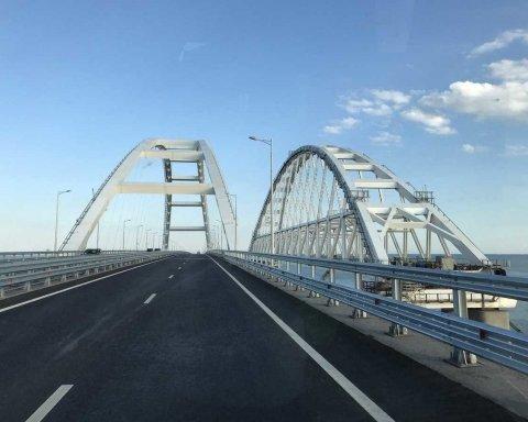 На путинском мосту в Крым заметили интересную деталь