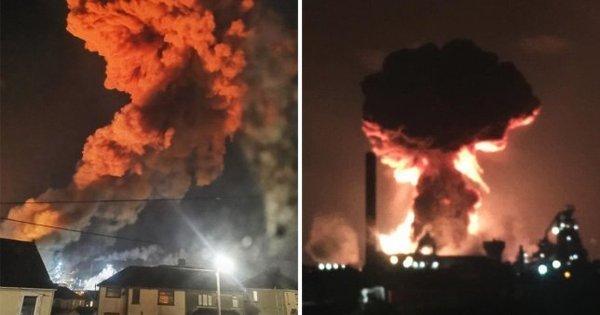 У Британії прогриміли потужні вибухи: перші подробиці і кадри з місця НП