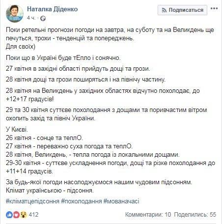 Дожди и ветер: синоптик назвала дату сильного похолодания в Украине