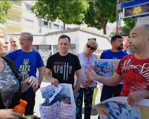 В Португалии россияне во время пропагандистской акции напали на украинцев: подробности