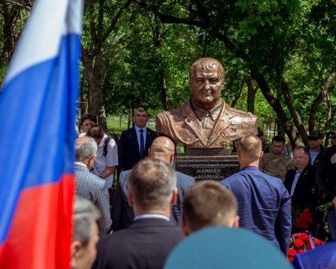 На оккупированном Донбассе открыли памятник убийце украинцев из РФ: появилось его фото