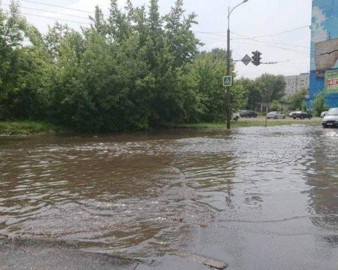 Часть Украины затопили дожди: появились новые фото последствий непогоды