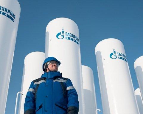 Газпром резко сократил транзит газа через Украину