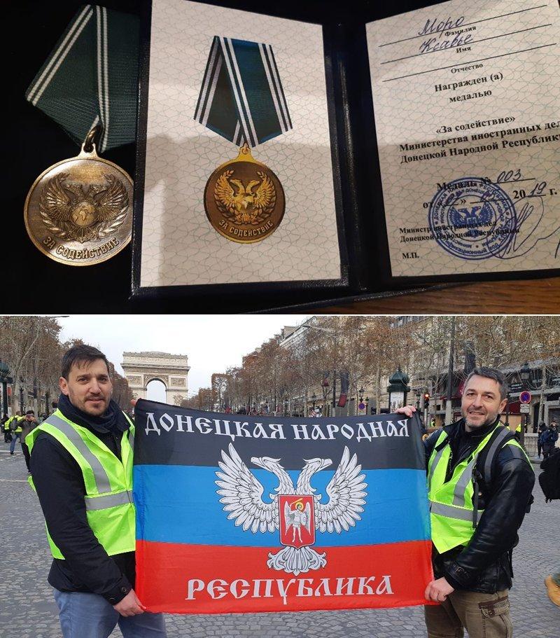 Боевики «ДНР» наградили «медалью» скандального француза: появилось интересное фото