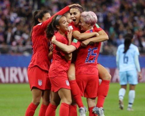 Жіноча збірна США в одному матчі забила більше голів, ніж чоловіча за рік