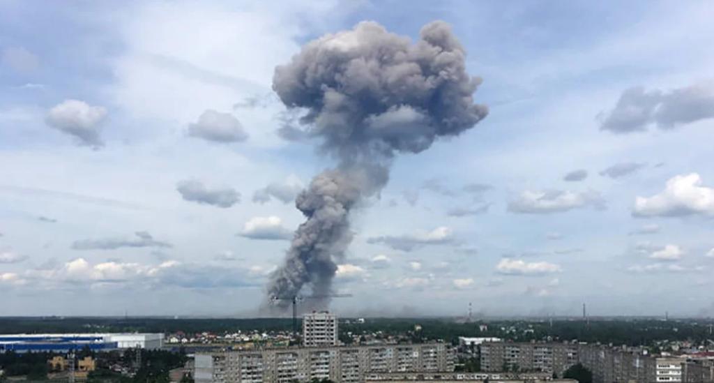 Шокирующие кадры: появилось видео второго взрыва на военном заводе РФ