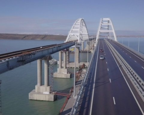 Идут «караваны»: появились свежие фото путинского моста в Крым