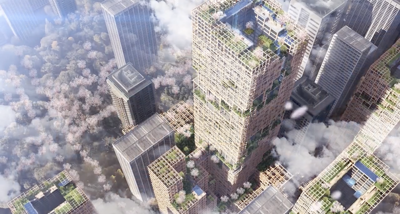 В столице Японии построят 70-этажный небоскреб из дерева