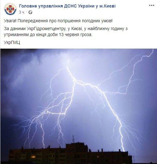 Снова грозы: стало известно, где в Украине ухудшится погода