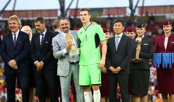 Лунін став найкращим воротарем молодіжного чемпіонату світу