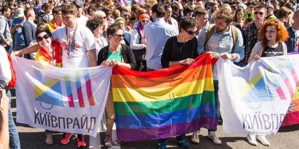Київпрайд-2019: в мережі з'явилось відео нападу на колону маршу рівності
