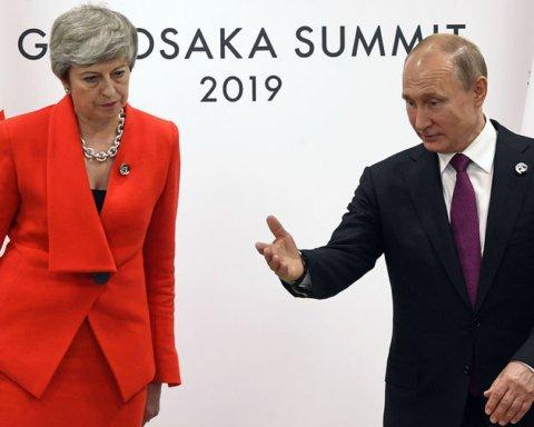 Мей шепнула Путіну, що у Британії є докази причетності РФ до отруєння Скрипалів