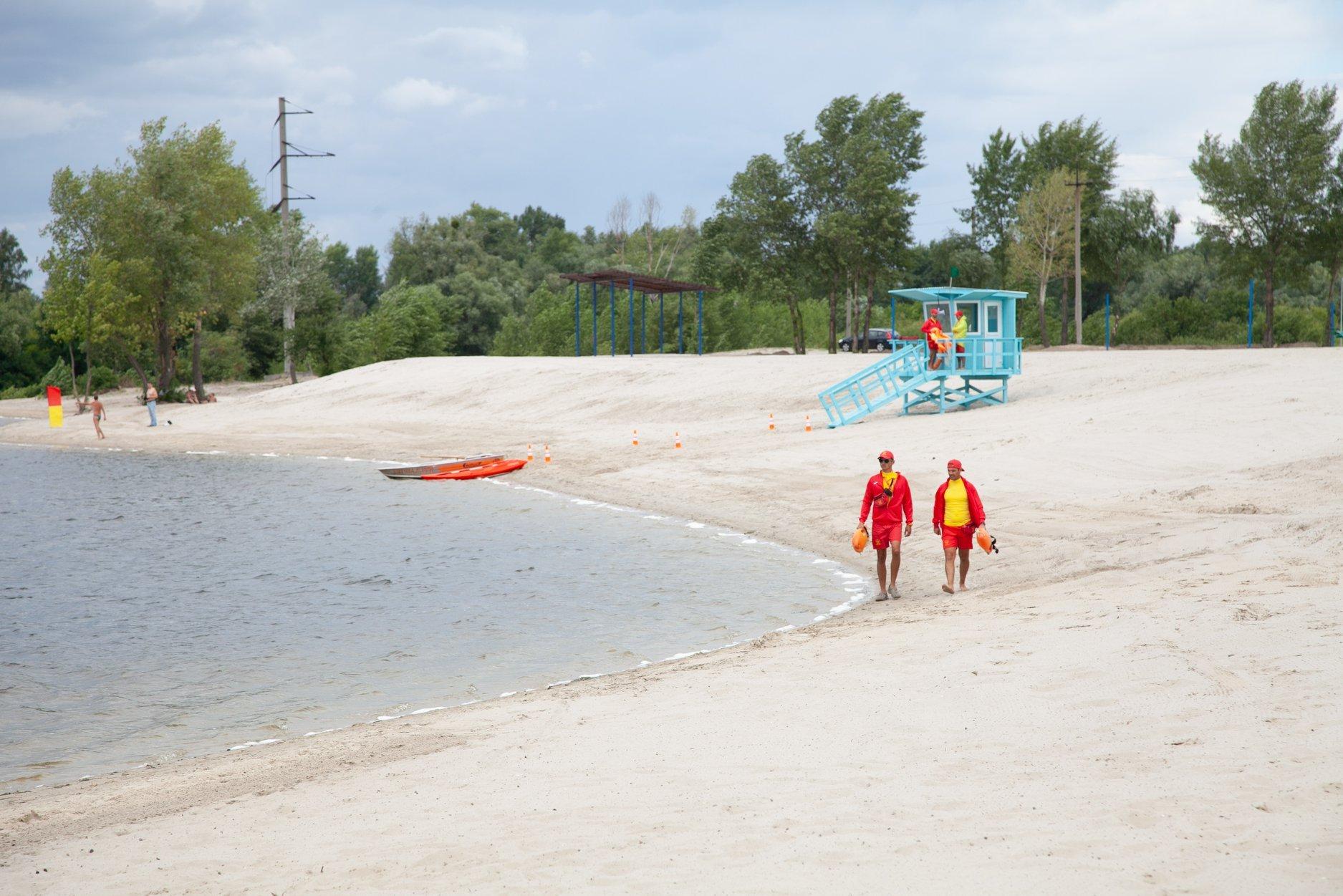 В Киеве открылся новый пляж