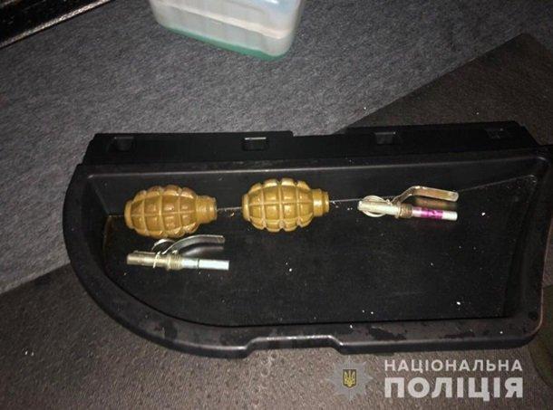 На Черкащині у голлівудській погоні затримали іноземців з гранатами