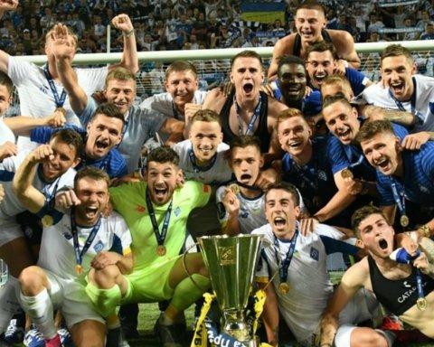 Гравці Динамо бурхливо відсвяткували тріумф у Суперкубку України