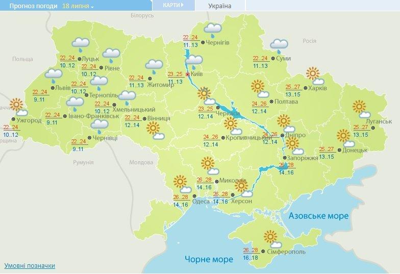 Коли повернеться спека: синоптики дали прогноз погоди на тиждень