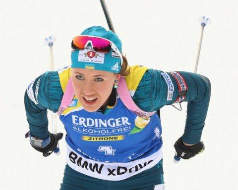 Украинская биатлонистка Джима потренировалась со сборной Словении