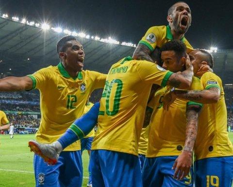 Сборная Бразилии вместе с Неймаром отпраздновала выход в финал Копа Америка
