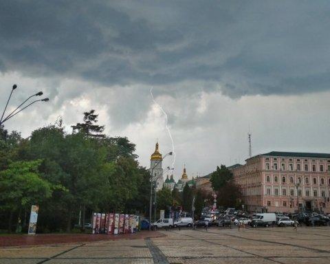 Воскресный ливень в Киеве побил очередной рекорд