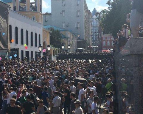 »Бунт» в Москве: протестующие скандировали культовый «заряд» харьковских ультрас
