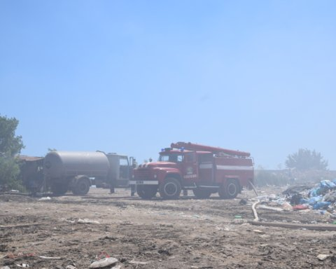 Масштабный пожар на свалке на Николаевщине: фото, видео и подробности