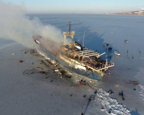 Пожар и потопление украинского судна в Африке: новые подробности